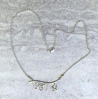 VOTE! Necklace in Sterling Silver