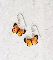 Orange Sulphur Butterfly Earrings