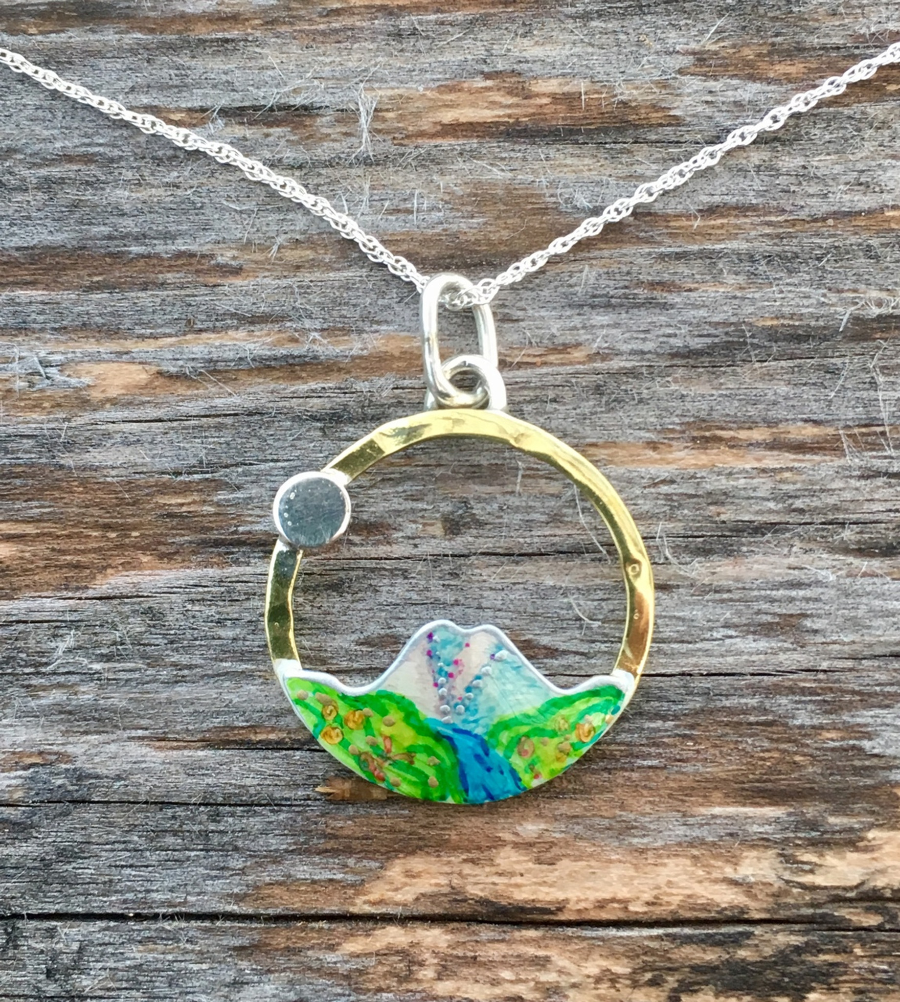 d18f5851dbd5f The Mountains are Calling Necklace