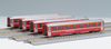 Kato (Europe) N Gauge RhB EW1 Red 4 Coach Add On Set (4)