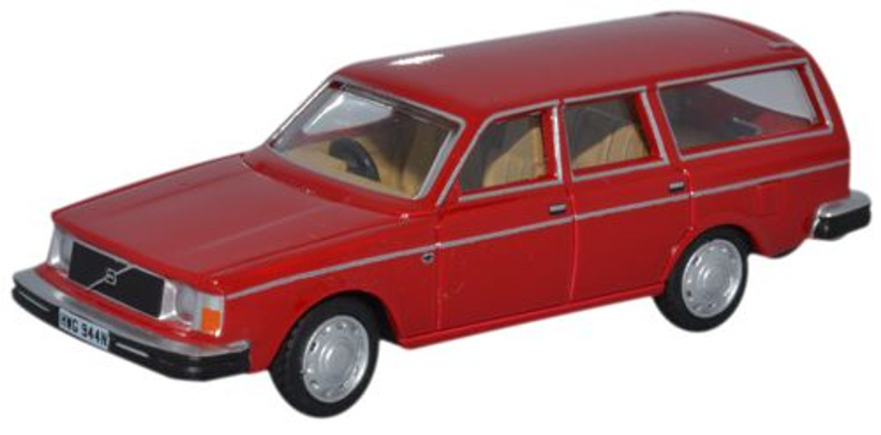 Oxford Diecast Oo Volvo 245 Estate Red 1 76