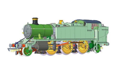 Hornby GWR, Class 5101 'Large Prairie', 2-6-2T, 4154 - Era 3 R3719X