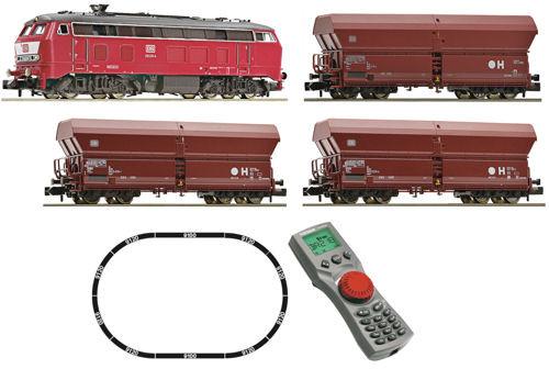 Fleischmann DB BR218 Diesel Freight Starter Set IV (DCC-Fitted)