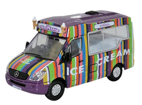 Oxford Diecast OO Whitby Mondial Mercedes Ice Cream Van Smiths 1/76