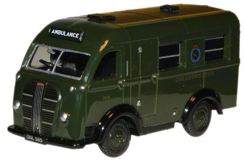 Oxford Diecast OO Austin Welfarer Ambulance K8 Van Civil Defence 1/76