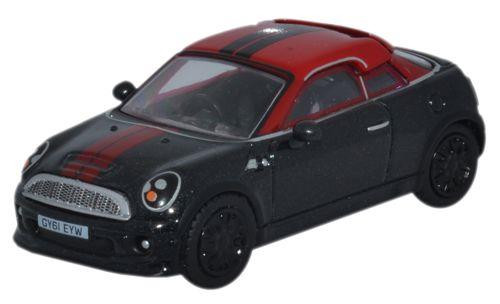 Oxford Diecast OO Mini Coupe Midnight Black/Red 1/76