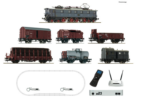 Roco HO Train Sets DRG E52 Electric Freight Starter Set (DCC-Fitted)