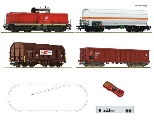 Roco HO Train Sets OBB Rh2048 Diesel Freight Starter Set (DCC-Fitted)