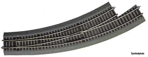 Roco HO Track Rocoline Ballasted (BWL3) Left Hand Curved Turnout