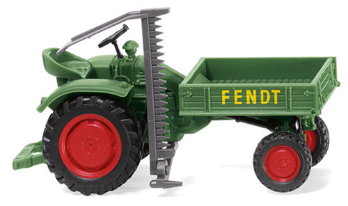 Wiking HO Vehicles Fendt Equipment Carrier With Cutting Tool WK089938