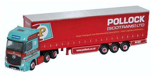 Oxford O Gauge Mercedes Actros Curtainside Pollock ODNMB002