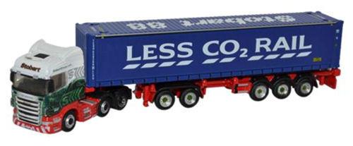 Oxford O Gauge Scania Highline D-TEC Combitrailer Container Eddie Stobart ODNSHL01CT
