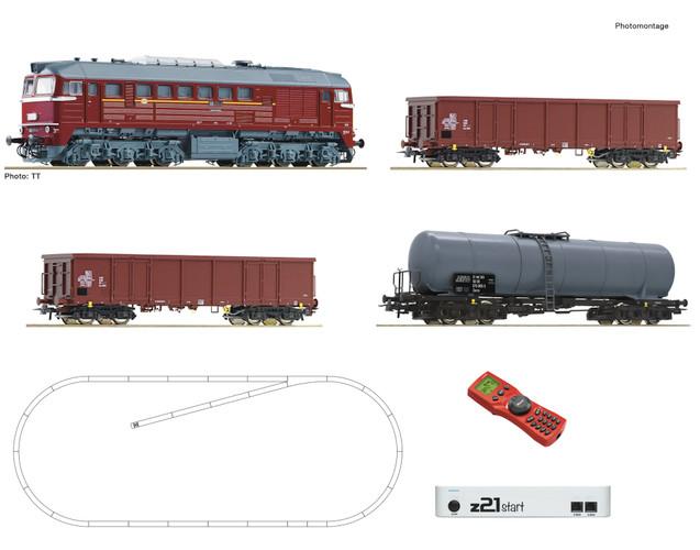 Roco HO Gauge DR BR120 Diesel Freight Starter Set IV (DCC-Fitted) 51331