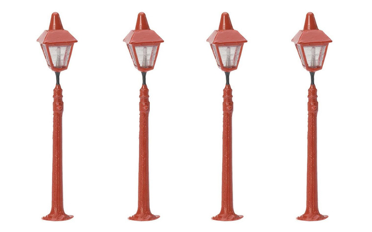 Hornby OO Gauge Platform Lamps x4 R8673