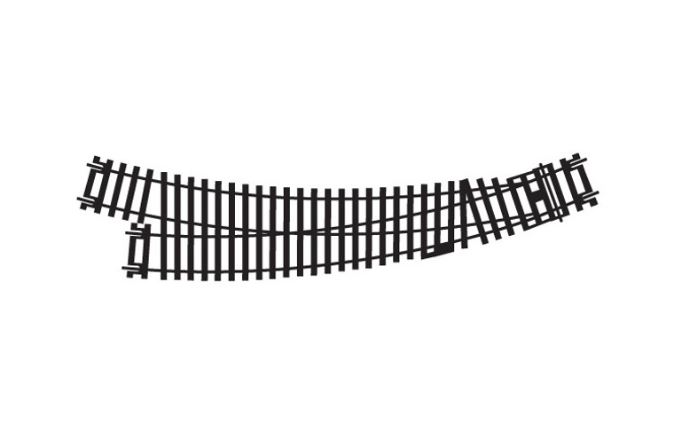 Hornby OO Gauge Right Hand Curved Point R8075