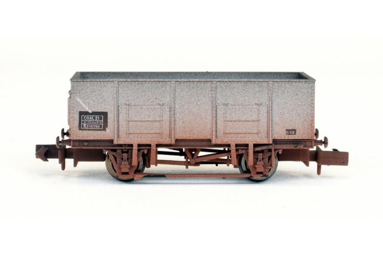 Dapol 20t Steel Mineral Wagon BR 315750 Weathered N Gauge