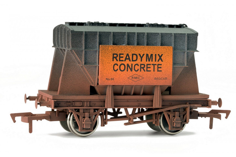 Dapol Presflo Cement Wagon Ready Mix Concrete Weathered OO Gauge