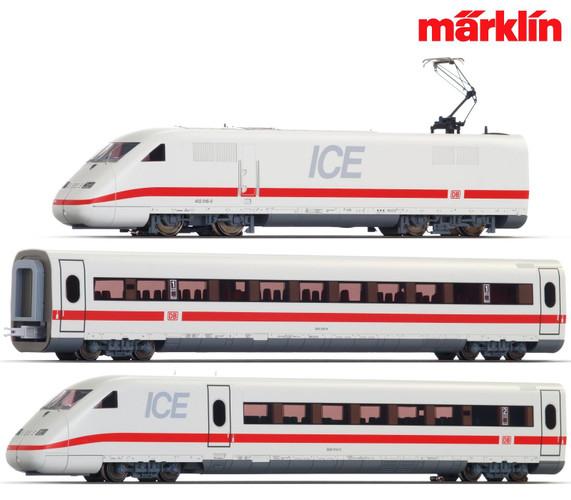 Marklin HO Gauge DBAG BR402 ICE Passenger Starter Set V (MFX-Sound) 29792
