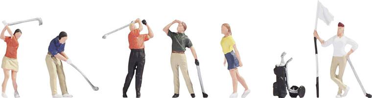 Noch HO Gauge Golfers (6) And Accessories Figure Set N15885