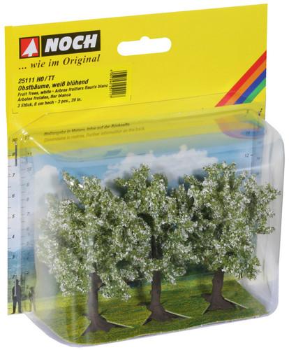 Noch HO Gauge White Fruit (3) Classic Trees 8cm N25111