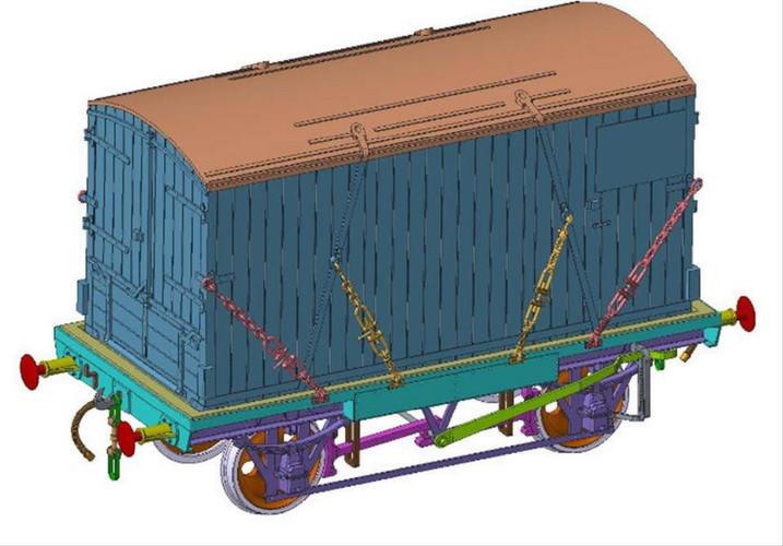Dapol O Gauge Conflat & Container GWR 39326/BK2 BK-1829 Furniture Rmvl DA7F-037-003