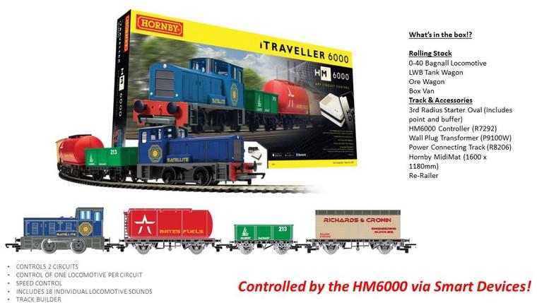 Hornby OO Gauge iTraveller 6000 Train Set R1271M