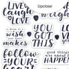 Stickers | Be Happy Words | Clear