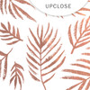 Metallic Clear | Beach Palms | Rose Gold 8x8