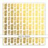 Metallic Vellum | Pinapple Crush | Gold 8x8