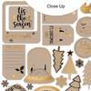 Die-Cuts | Gold & Kraft