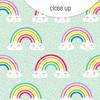 Clear | Over the Rainbow | Mint 8x8