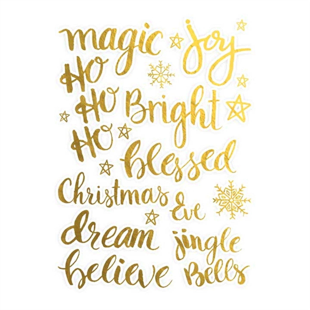 Christmas Words.Die Cuts Christmas Words Gold