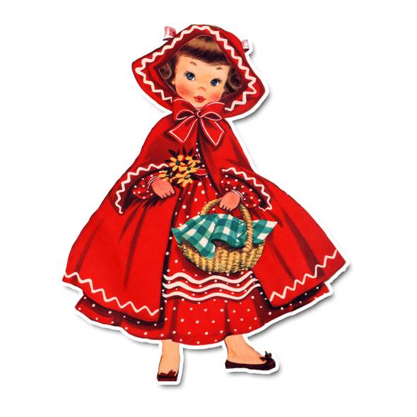 Vintage Die-Cut | Little Red Riding Hood 2