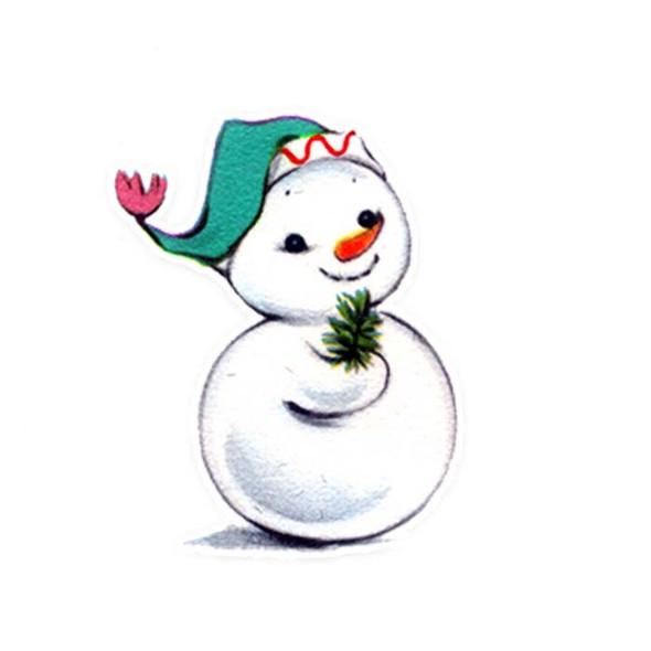 Vintage Die-Cut | Snowman #11