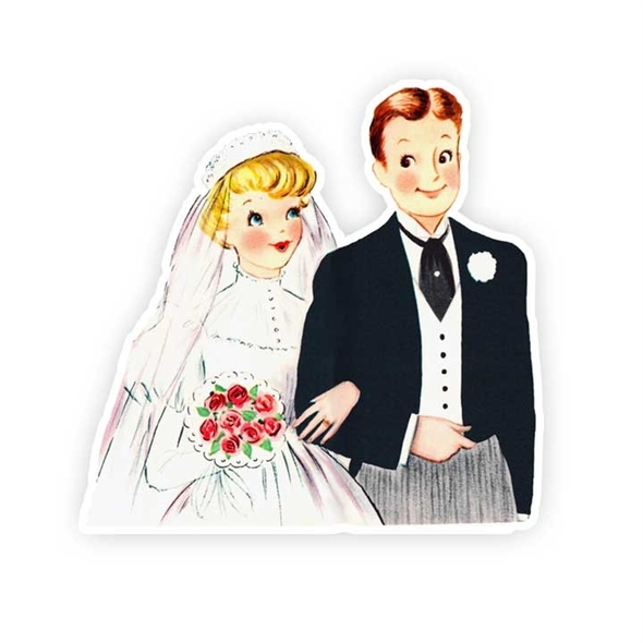 Vintage Die-Cut | Wedding Couple