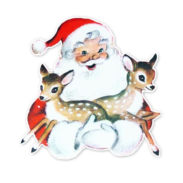 Vintage Die-Cut | Santa's Reindeer