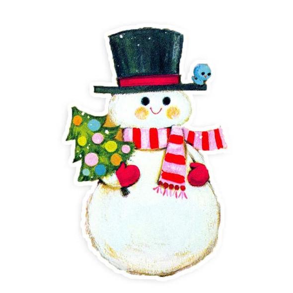 Vintage Die-Cut | Snowman #5