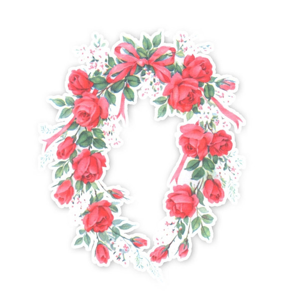 Vintage Die-Cut | Rose Garland