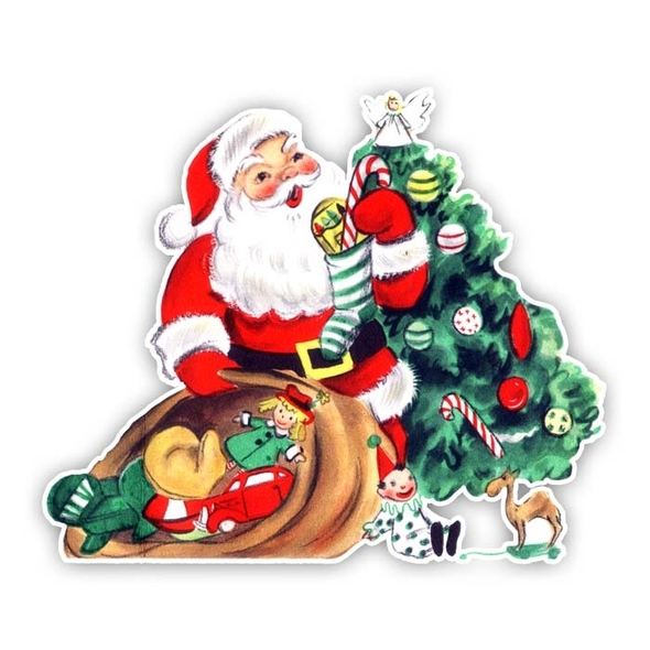 Vintage Die-Cut | Santa #19