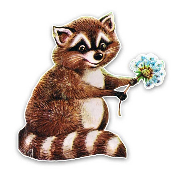 Vintage Die-Cut | Rex Raccoon