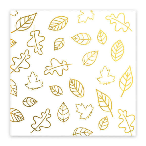 Metallic Vellum | Falling Leaves | Gold