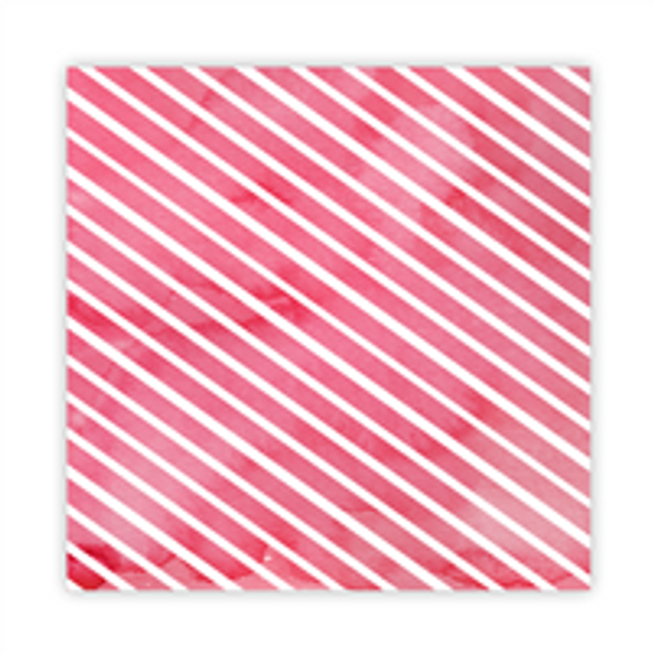 Paper | Candy Cane #1 | 8x8
