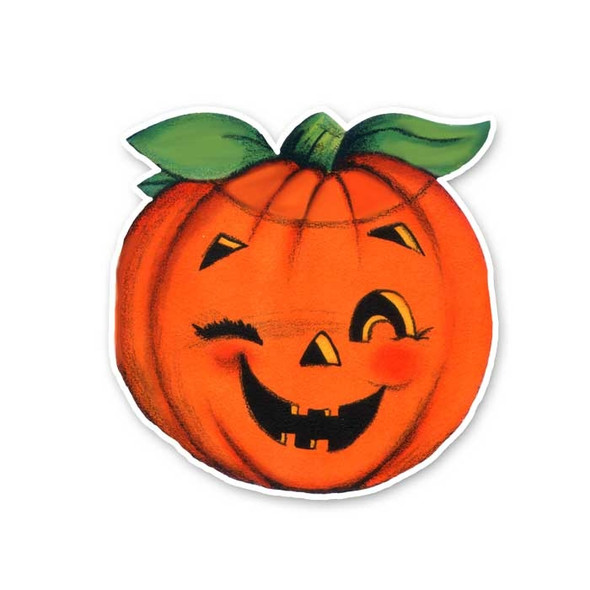 Vintage Die-Cut | Orange Pumpkin