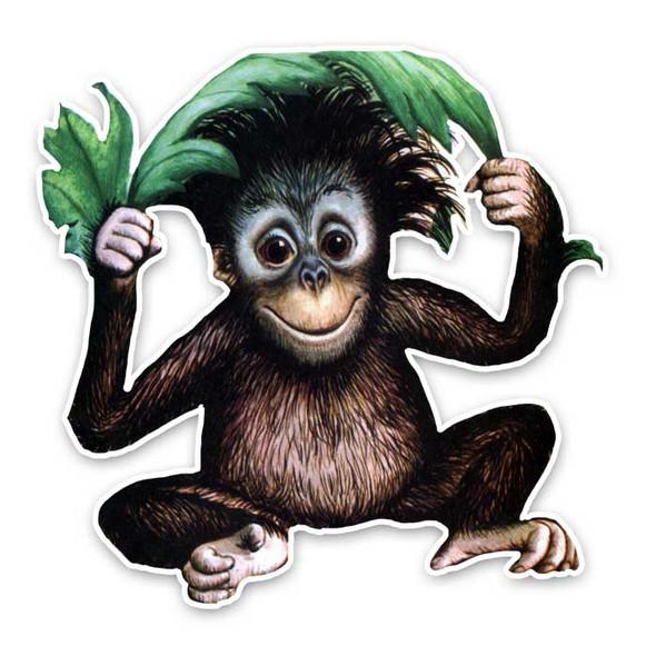 Vintage Die-cut | Onyx Orangutan
