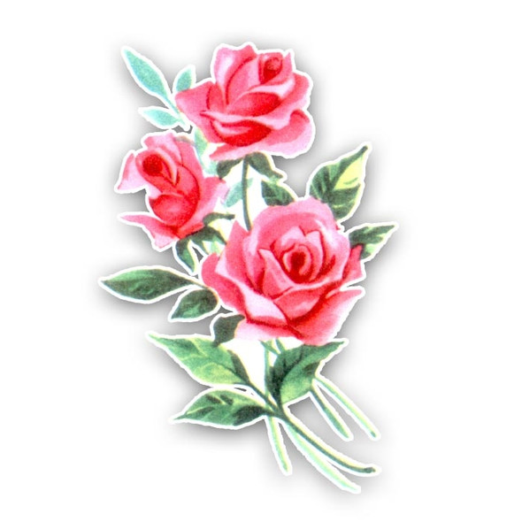 Vintage Die-cut | Damask Rose