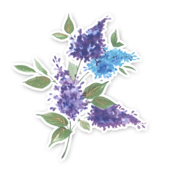 Vintage Die-Cut | Lilacs