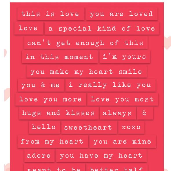 Stickers | Romantic Words | Rose