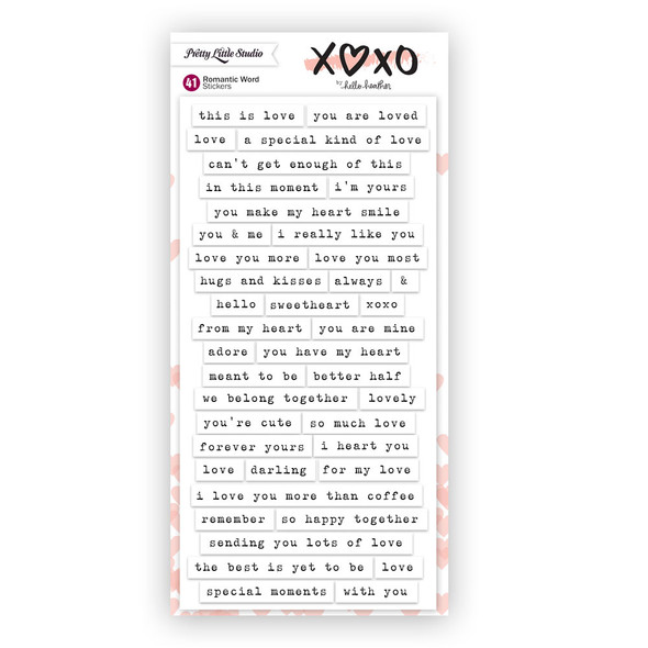 Stickers | Romantic Words | White