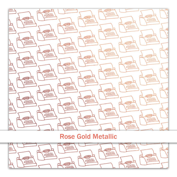 Metallic Vellum | Just My Type | Rose Gold