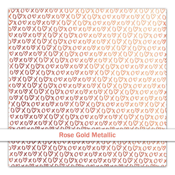 Metallic Clear | Hugs & Kisses | Rose Gold